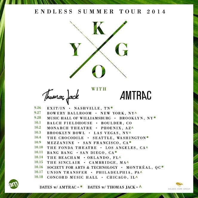 Thomas Jack Kygo Amtrac tour