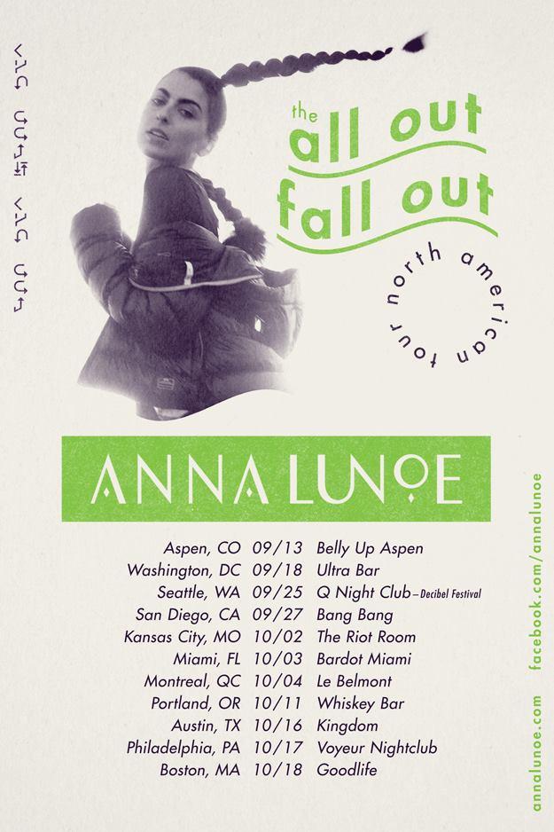 anna lunoe north american tour