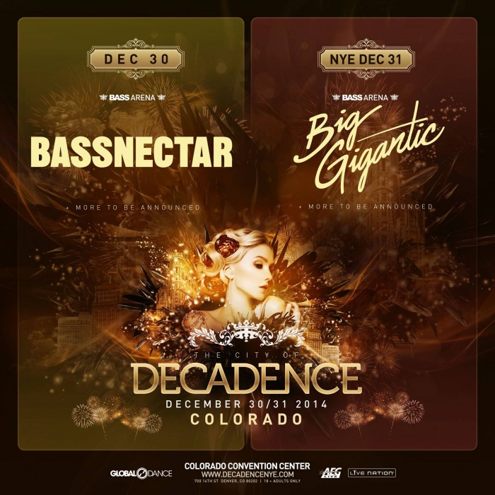 Decadence Announces Lineup for NYE | thatDROP.com