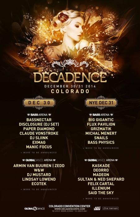 decadence lineup
