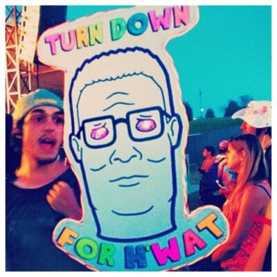 music festival totems