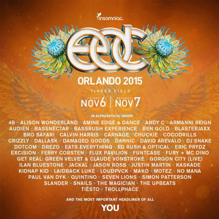 EDC Orlando 2015 Lineup