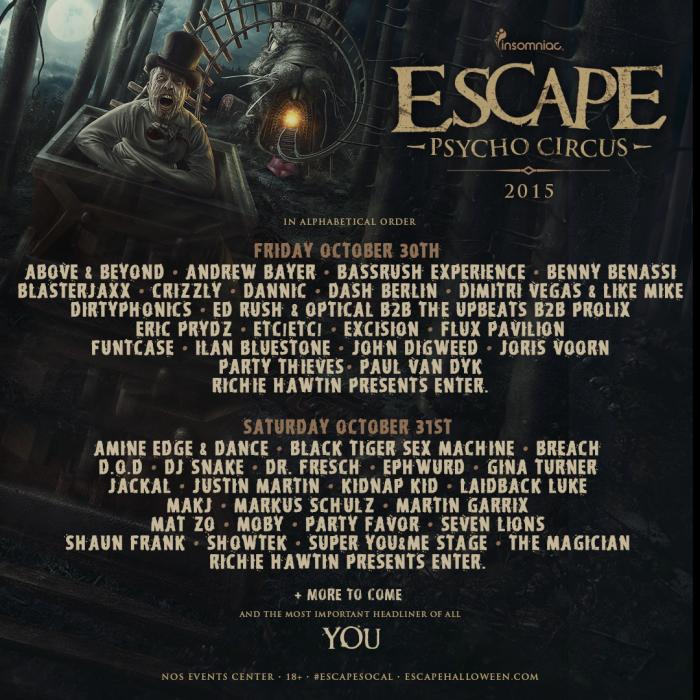 Escape Psycho Circus 2015.