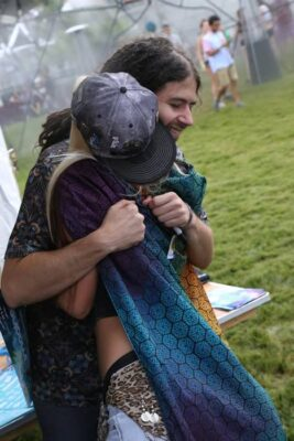 Papadosio's Anthony Thogmartin at the Artist Meet and Greet Booth at Imagine Festival. Photo - Mary Cormaci Photography.