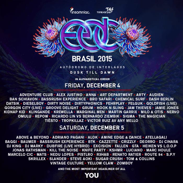 EDC Brasil lineup