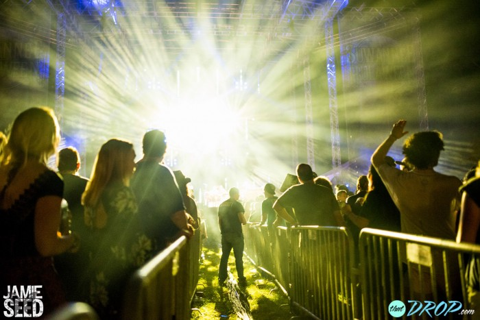 The main stage illuminates during The String Cheese Incident. Photo by Jamie Seed Photography.