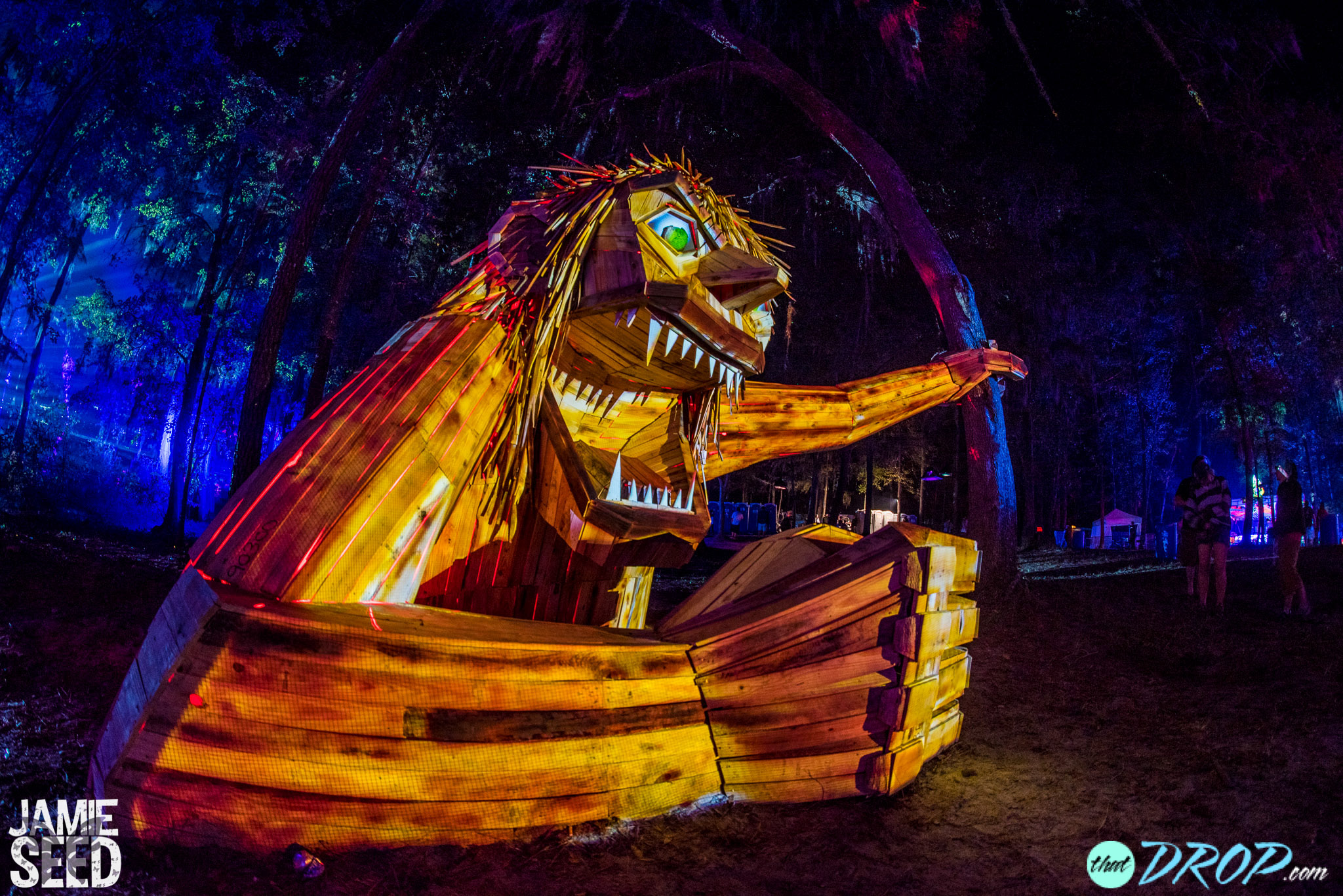 Exploring the trippy art installations of suwannee hulaween for Trippy house music