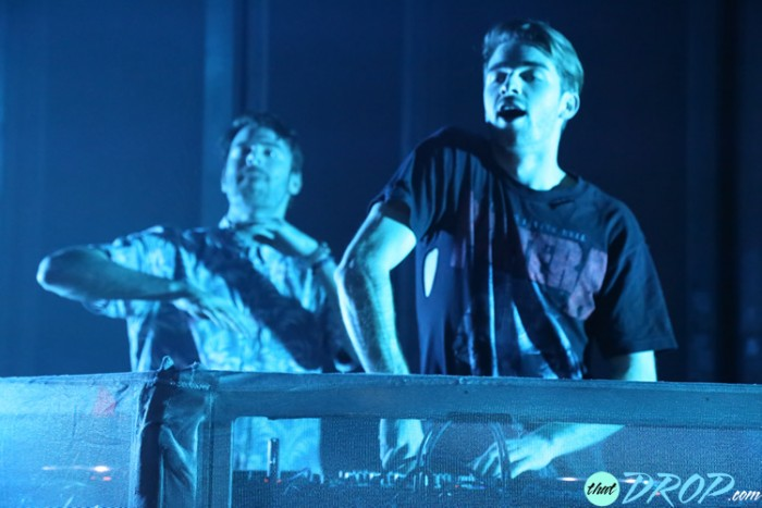 Alex (left) and Drew (right) of The Chainsmokers get ready to turn up in San Diego on November 25.