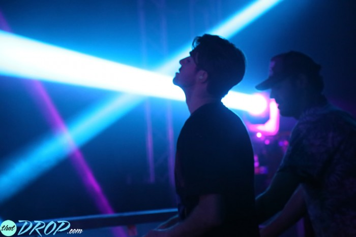 Drew (left) and Alex (right) of The Chainsmokers during the first of three Friendzone tour dates in California.