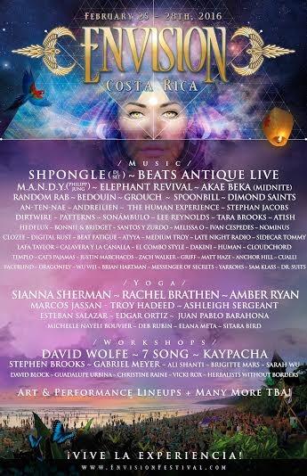 Envision Festival Lineup 2016