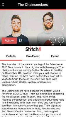 Stitch Live The Chainsmokers Seattle Friendzone Tour