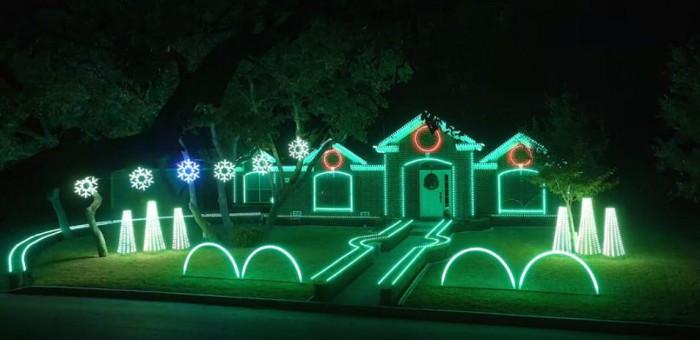The Johnson family light show