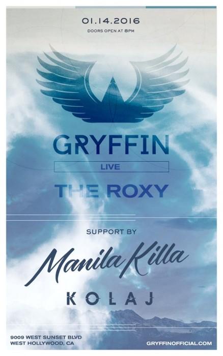 Gryffin w/ Kolaj, Manila Killa at The Roxy Theater