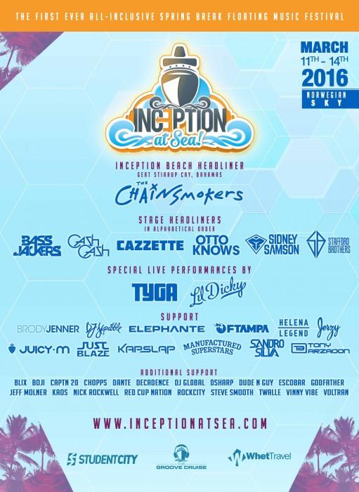 EDM Cruise Spring Break Lineup