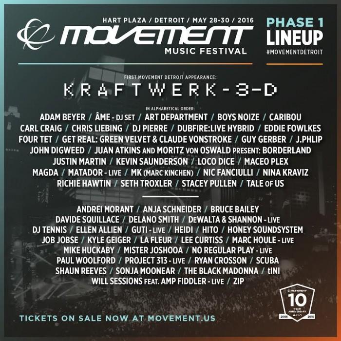 Movement Festival's 2016 Lineup