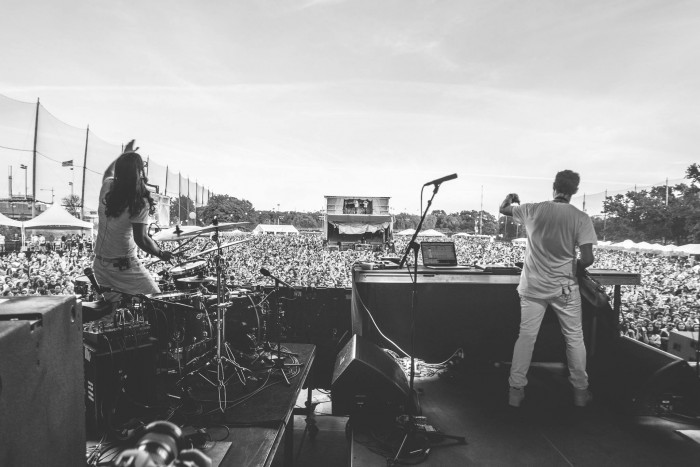 Big Gigantic performs at Governor's Ball Music Festival