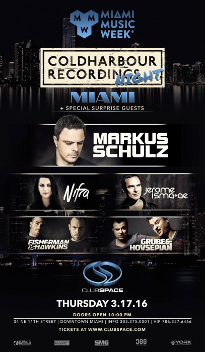 Coldharbour Recordings Presents Markus Schulz - Miami Music Week