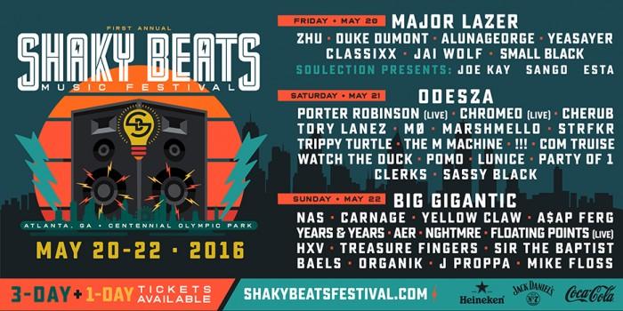 Shaky Beats 2016 Lineup