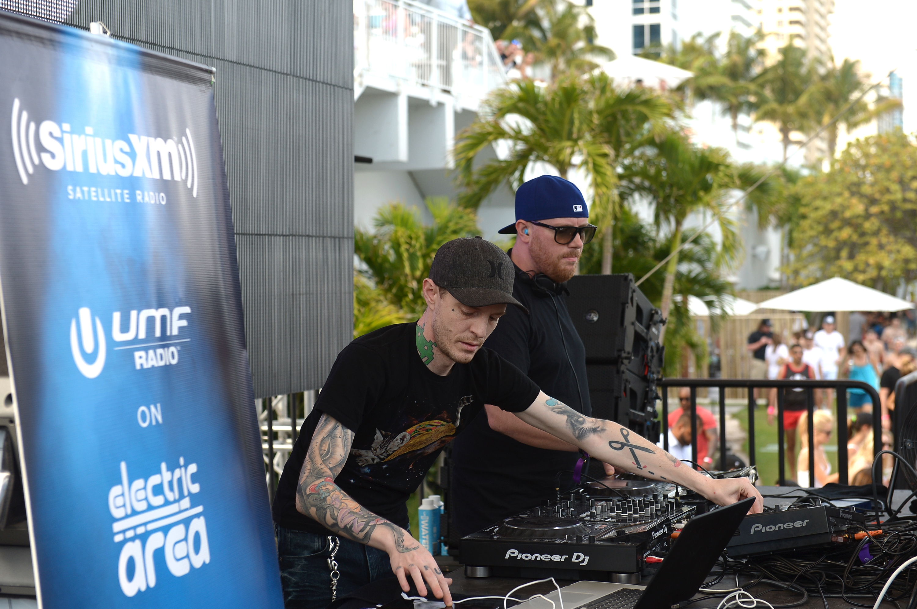 """""""MIAMI, FLORIDA - MARCH 18: Prydz & Deadmau5 performs at SiriusXM's 'UMF Radio' Broadcast Live From The SiriusXM Music Lounge at 1 Hotel South Beach at 1 Hotel South Beach on March 18, 2016 in Miami, Florida. (Photo by Gustavo Caballero/Getty Images for SiriusXM)"""""""