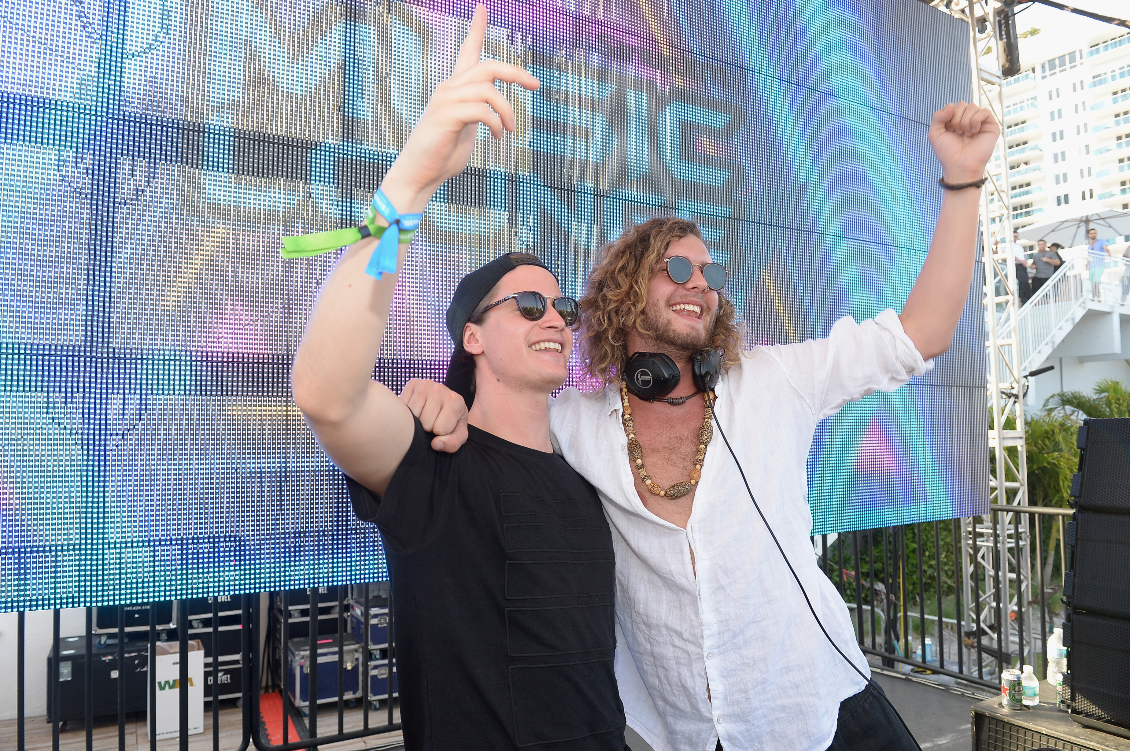MIAMI, FLORIDA - MARCH 16: Kygo (L) and Thomas Jack perform onstage at SiriusXM Celebrates 10th Anniversary Of The SiriusXM Music Lounge At 1 Hotel South Beach Leading Up To Ultra Music Festival; SiriusXM Music Lounge Airs Live On SiriusXM's UMF Radio - Day 1 on March 16, 2016 in Miami, Florida. (Photo by Gustavo Caballero/Getty Images for SiriusXM) *** Local Caption *** Thomas Jack; Kygo