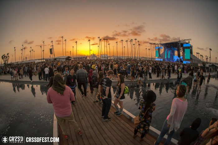 Sunset over Sunday as Tycho began; Photo by Gabe Tiano