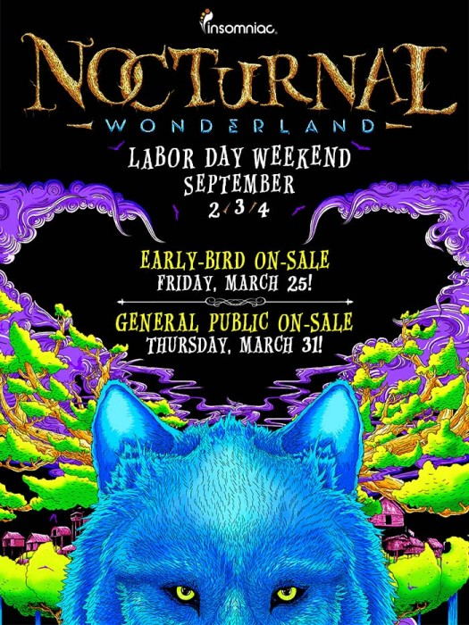 Nocturnal Wonderland Returns to SoCal Labor Day Weekend