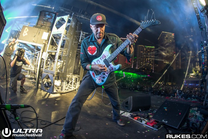 Tom Morello at Ultra Music Festival/Photo by Rukes