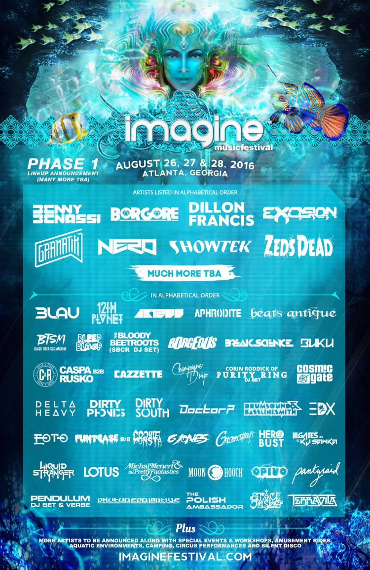 Imagine Music Festival Lineup 2016