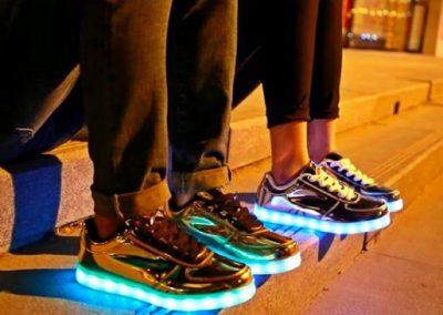 led music festival shoes