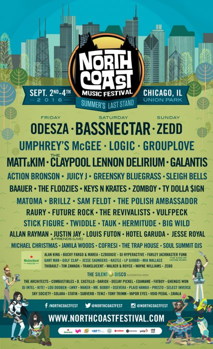 North Coast Music Festival Full 2016 Lineup