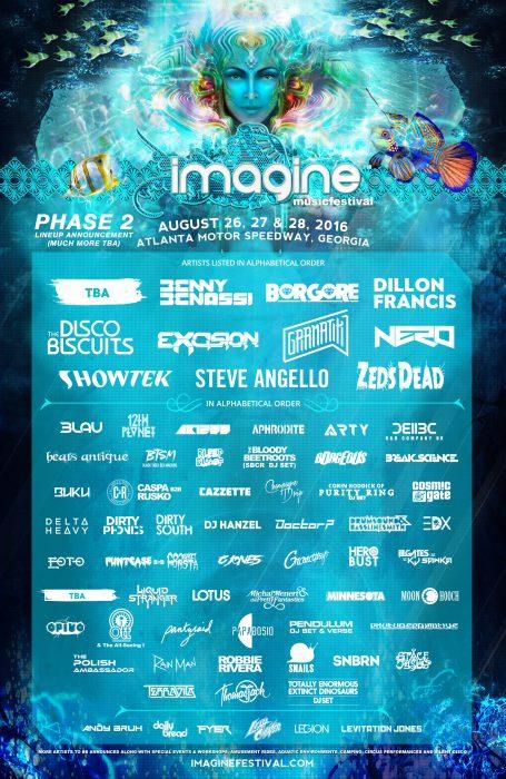 Imagine Music Festival Lineup