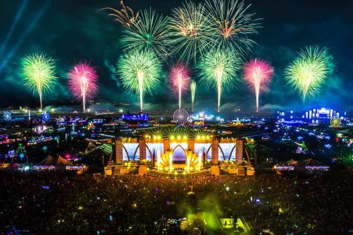 Fireworks at cosmicMEADOW via aLIVE Coverage for Insomniac