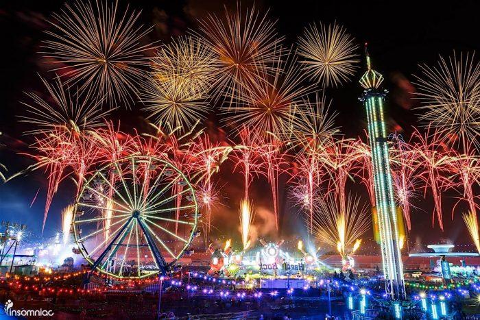 Fireworks at EDC Las Vegas 2016 via Facebook