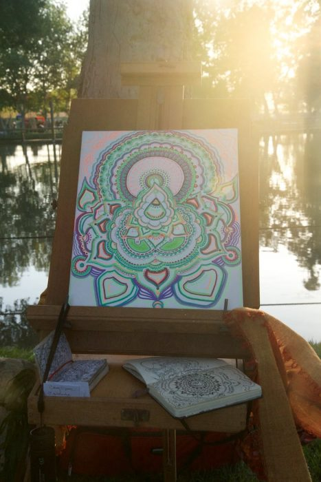 A glimpse of some of the beautiful art created this weekend at Woogie