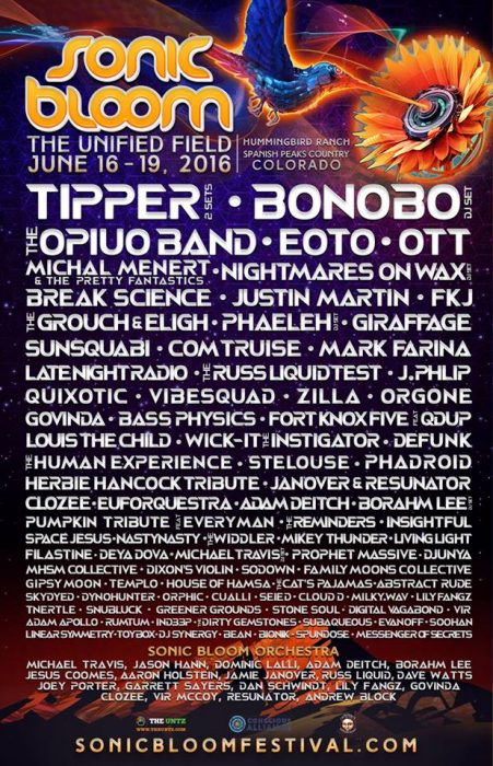 :: Line up via facebook.com/sonicbloom ::