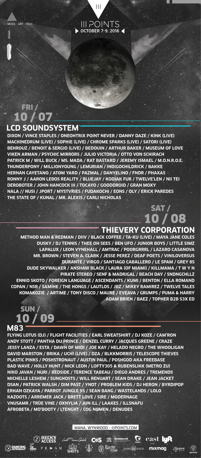 III Points Festival 2016 Full Day-To-Day Lineup
