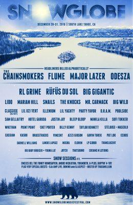 Snowglobe 2016 Lineup