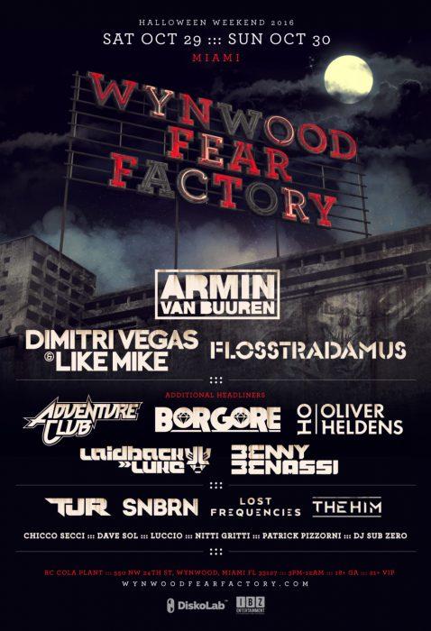 Wynwood Fear Factory 2016 Lineup