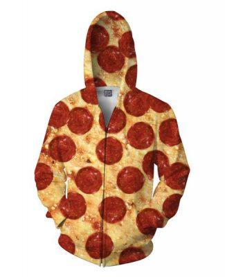 Pizza Zip-Up Hoodie