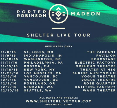 Newly added dates to Shelter Live Tour