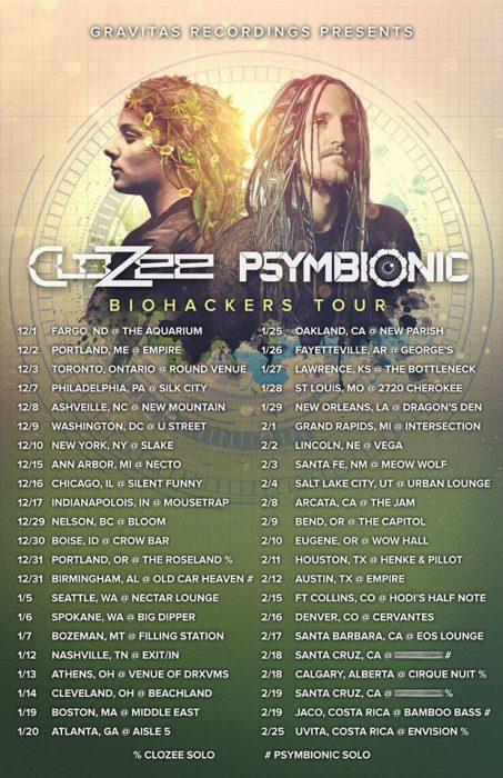 CloZee & Psymbionic Bio Hackers Tour