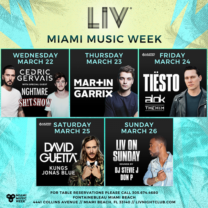 LIV and STORY Host Choice Events During Miami Music Week 2017