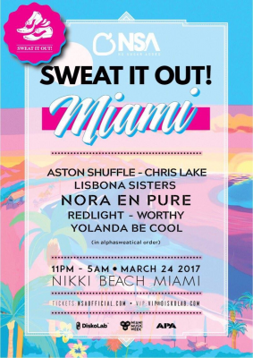 sweat it out line up