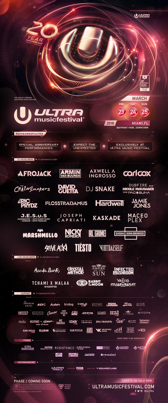Ultra Miami 20th Anniversary - EDM | Electronic Music | EDM