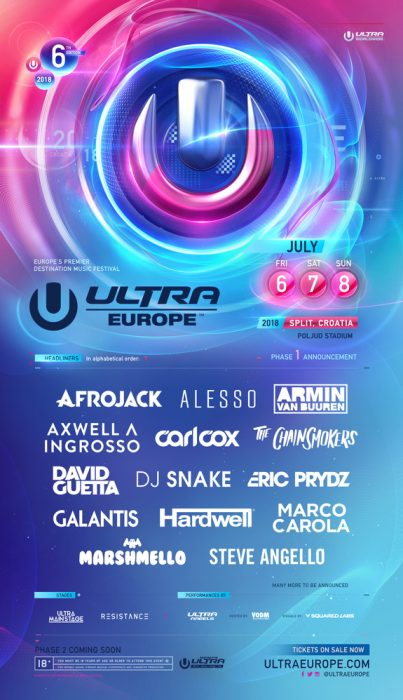 ULTRA Europe Announces an Exciting 2018 Phase 1 Lineup [Playlist]