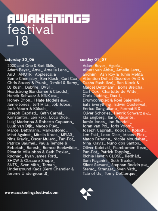 Awakenings Festival Packs 100+ Top-Tier Techno & House