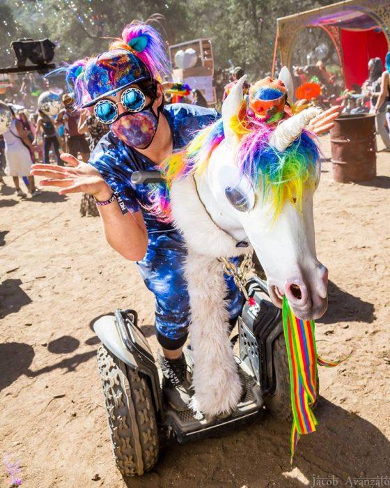 Guy Rides Unicorn