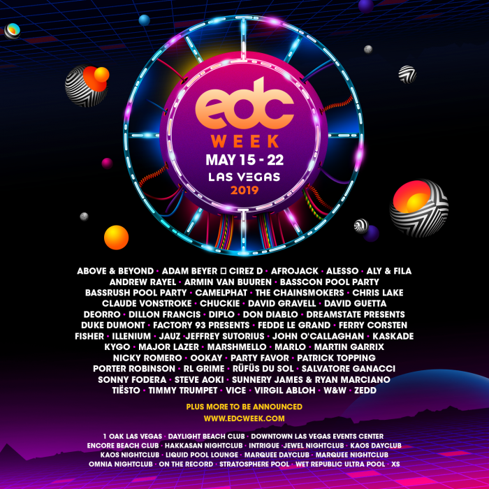 EDC Week 2019 Phase 1 Lineup