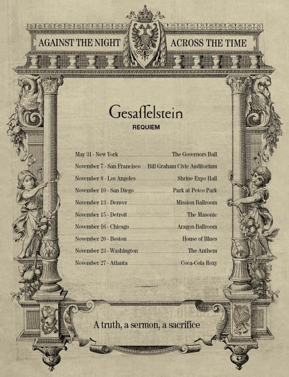 Gesaffelstein Requiem Tour Dates