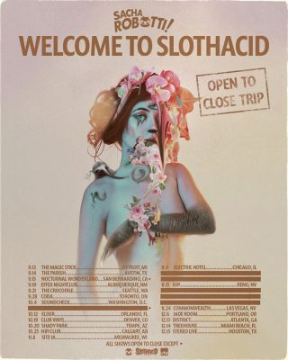 Sacha Robotti Announces Slothacid Label, Drops New Single, & Prepares for a Slothy Fall Tour